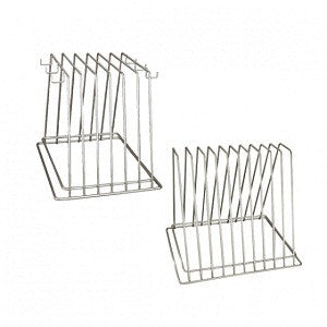 Cutting Board Storage Rack 6 Slot With Hooks