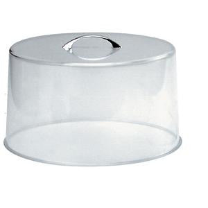 Cake Cover Clear-Chrome Handle (San) 300X185mm