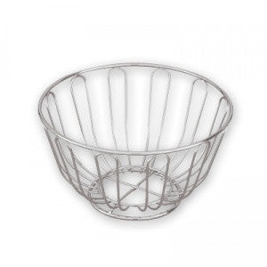 Bread Basket-250mm Roundchrome