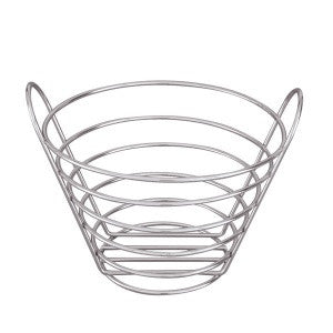 Basket-Round Tall 200mm Chrome