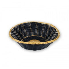 Bread Basket-200mmRoundblack & Gold