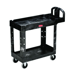 Rubbermaid 4500-88 2 Shelf Utility Cart Heavy Duty - Small Beige