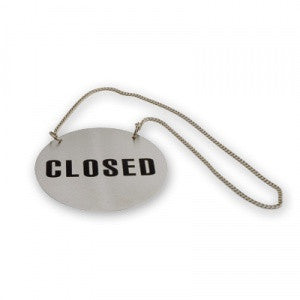Open/Close Sign-Stainless Steel Roundwt Chain