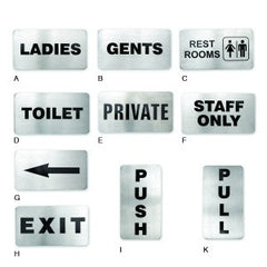 Wall Sign-Stainless Steel 110X60mm Rest Rooms