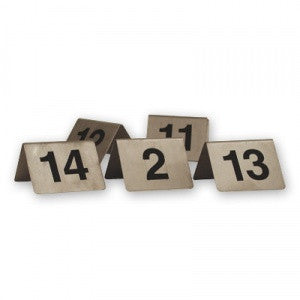 Table Number Set-Stainless Steel 21-30