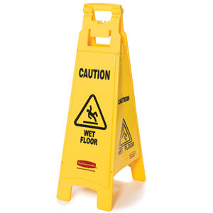 Rubbermaid 6114-77 Wet Floor Sign (4 Sided) 95.5Cm Height