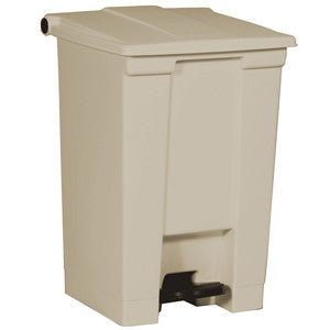 Rubbermaid 6144 Beig Step-On Container 45.4 L