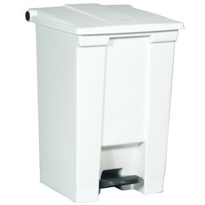 Rubbermaid 6144 Wht Step-On Container 45.4L