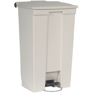 Rubbermaid 6146 Wht Step-On Container 87.1L