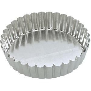 Cake Pan-Round Fluted 180X40mm Loose Base