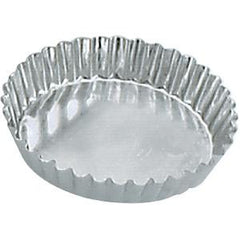 Tart Mould-Round Fluted 105X20mm Fixed Base