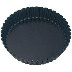 Cake Pan-Round Fluted 180X40mm Loose Base Non-Stick