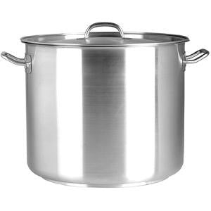 Stockpot-Stainless Steel 21.50Lt 320X270mm W/Lid