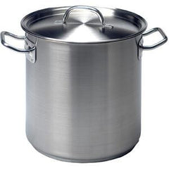 Stockpot-Stainless Steel 98Lt 500X500mm W/Lid