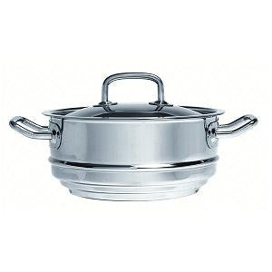 Multi-Fit Steamer-Stainless Steel 200X95mm W/Lid