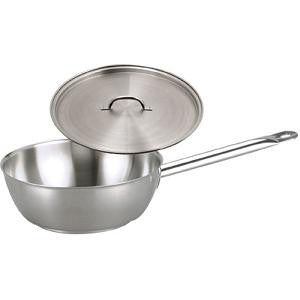 Saute Pan-Stainless Steel 240X85mm W/Lid