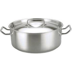 Casserole-Stainless Steel 25Lt 450X160mm W/Lid