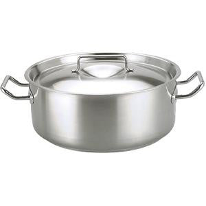 Casserole-Stainless Steel 37Lt 500X190mm W/Lid