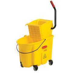 Rubbermaid Wavebrake Side Press Mop Bucket & Wringer Combo 33.1L