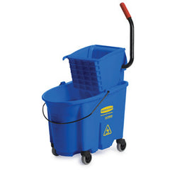 Rubbermaid Blue Wavebrake Side Press Mop Bucket & Wringer Combo 33.1L