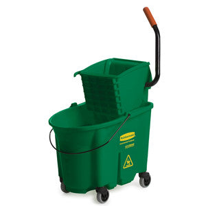 Rubbermaid Grn Wavebrake Side Press Mop Bucket & Wringer Combo 33.1L