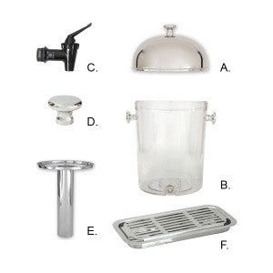 Spare Part For Juice Dispenser Acrylic Body