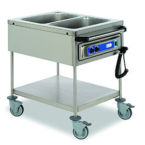 Matfer | Bourgeat Bain Marie Mobile 2 Bay 2X1/1