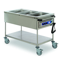 Matfer | Bourgeat Bain Marie Mobile 3 Bay 3X1/1