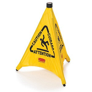 Rubbermaid 9S00 Pop-Up Safety Cone - 50 Cm Wet Floor