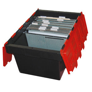AP68-BKRD Security Crate 68L Black w/Red Lid Food Grade