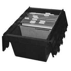 AP68R Security Crate 68L Black Base w/Black Lid Recycled