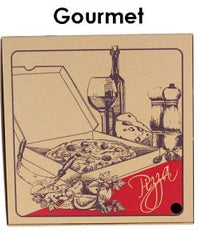 PIZZA BOXES BROWN GOURMET 13''