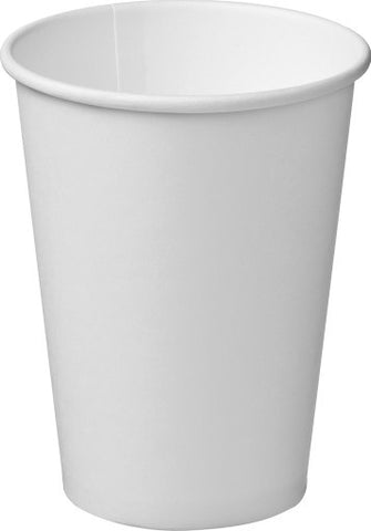12oz/355ml  Single Wall - White Paper Coffee Cup