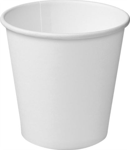 4oz/118ml Single Wall - White Paper Coffee Cup