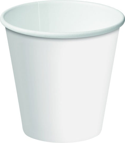 6oz/177ml Single Wall - White Paper Coffee Cup