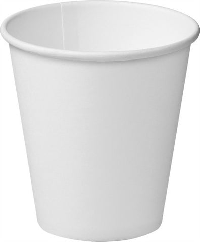 8oz/237ml Single Wall - White Paper Coffee Cup