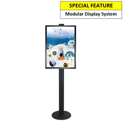 A1 Poster Holder on Black Combo Pole 1800mm High