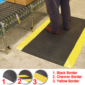Anti-Fatigue Diamond Foot 900 x 1500mm Yellow Border