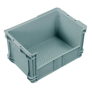 Nally IH027 50Lt Solid Sides Vent. Base Side Access Crate