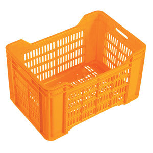 Nally IH037-O 44Lt Orange Produce Ventilated Crate