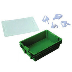 Nally IH2240-RD Series 2000 26L Solid Crate + Lid + Clips