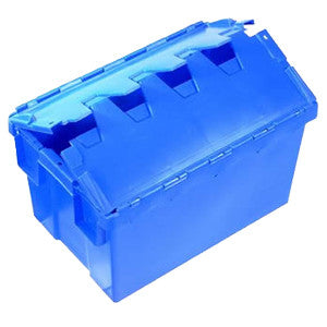 Nally IH3013 50L Solid Crate w/Lid PC Window BLUE