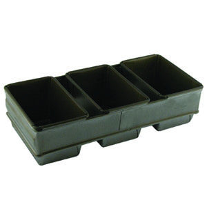 3 x 680g Loaf Pan Set Teflon 400 x 282mm