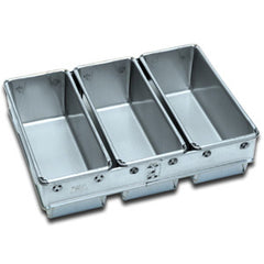 3 x 680g Loaf Pan Panglaze Finish Fluted