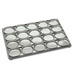 4 x 5 Lunch Pie tray Oval Panglaze 655x457