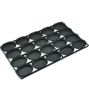 4 x 5 Lunch Pie tray Oval Teflon