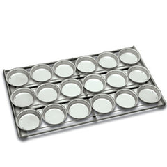 6 x 4 Lunch Pie tray Round Upright style Panglaze