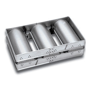 3 x Medium Corrugated Tank Loaf Pan Teflon