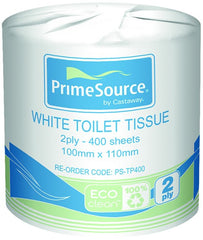 Eco-Clean 2 Ply Toilet Tissue - PrimeSource White
