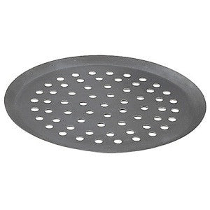 "Perforated 9"" Alusteel Pizza Tray"
